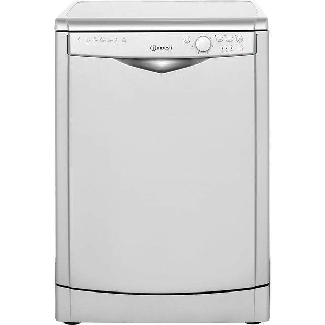 Indesit My Time DFG26B1S Standard Dishwasher - Silver - A+ Rated - DFG26B1S_SI - 1
