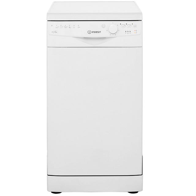 Indesit DSR26B1 Slimline Dishwasher - White - A+ Rated