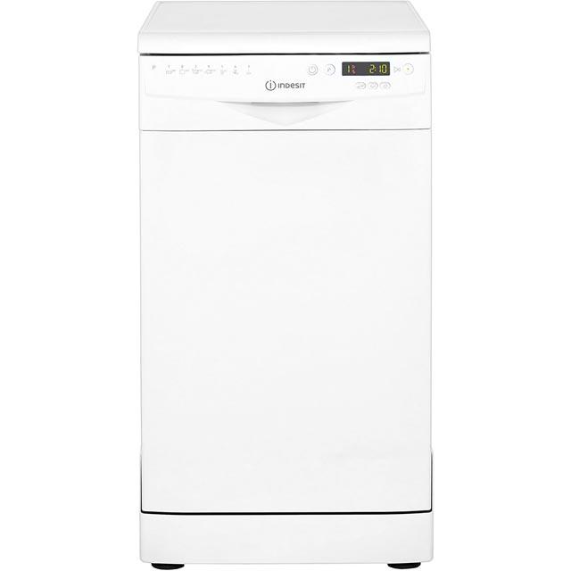 Indesit DSR57B1 Free Standing Slimline Dishwasher in White