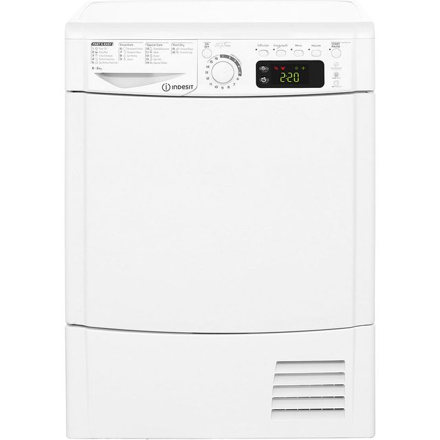 Indesit My Time EDCE85BTM Condenser Tumble Dryer - White - EDCE85BTM_WH - 1
