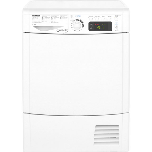 Indesit My Time EDPE845A1ECO Free Standing Condenser Tumble Dryer in White