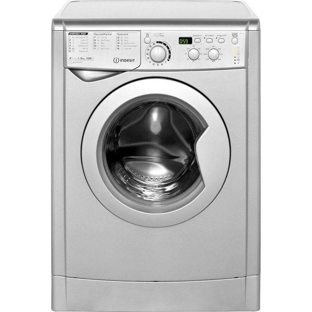 Indesit My Time EWD81482S 8Kg Washing Machine with 1400 rpm - Silver - A++ Rated - EWD81482S_SI - 1