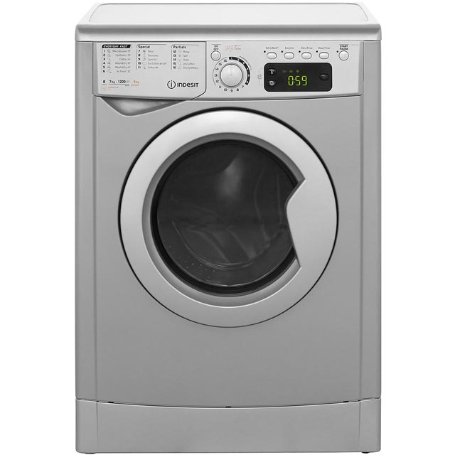 Indesit My Time EWDE7125S Free Standing Washer Dryer in Silver