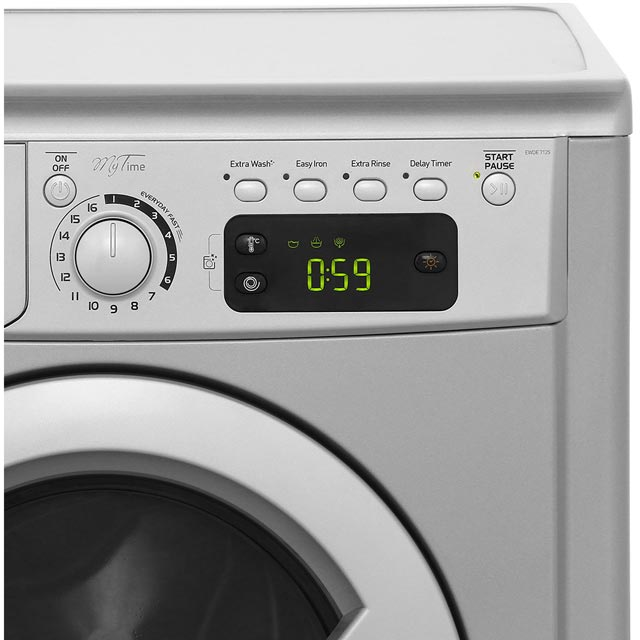Indesit My Time EWDE7125S 7Kg / 5Kg Washer Dryer - Silver - EWDE7125S_SI - 4