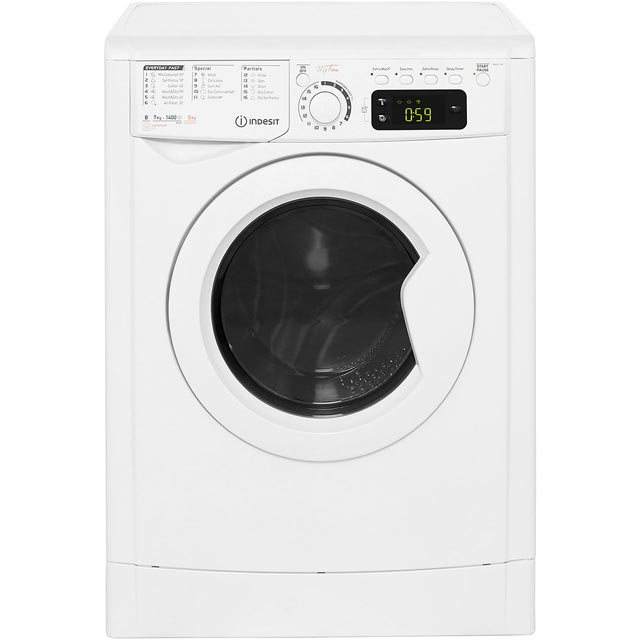 Indesit My Time EWDE7145W 7Kg / 5Kg Washer Dryer with 1400 rpm - White - EWDE7145W_WH - 1