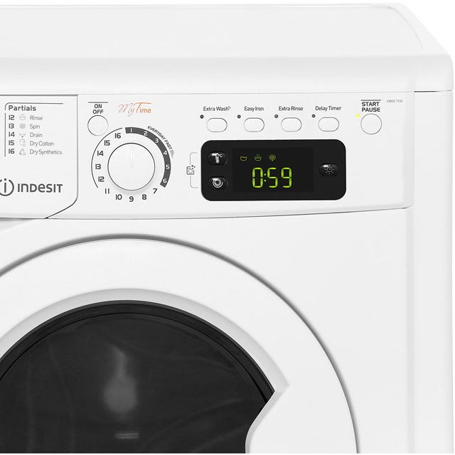 Indesit My Time EWDE7145W Washer Dryer - White - EWDE7145W_WH - 4