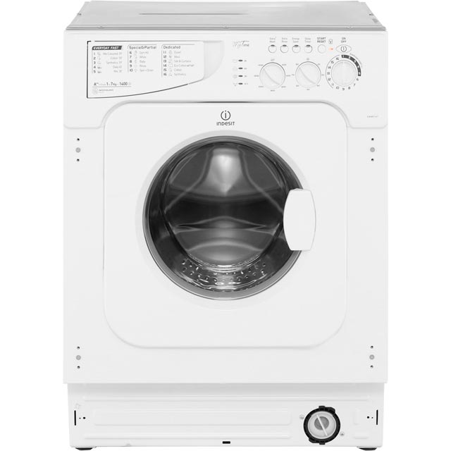 Indesit My Time EWME147 Integrated 7Kg Washing Machine with 1400 rpm - A++ Rated