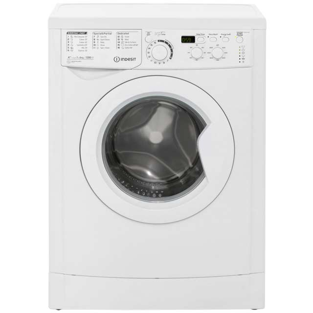 Indesit My Time EWSD61252W 6Kg Washing Machine with 1200 rpm - White - A++ Rated - EWSD61252W_WH - 1