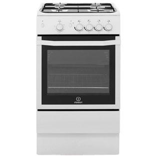 Indesit I5GGW Gas Cooker - White - I5GGW_WH - 1