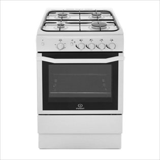 Indesit I5GGW Gas Cooker - White - I5GGW_WH - 3