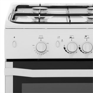 Indesit I5GGW Gas Cooker - White - I5GGW_WH - 5