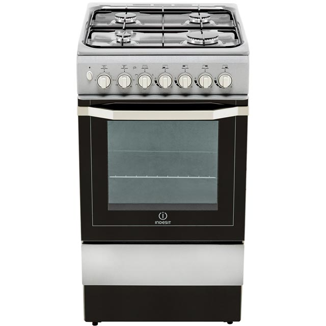 Indesit I5GSH1S Dual Fuel Cooker - Silver - I5GSH1S_SI - 4