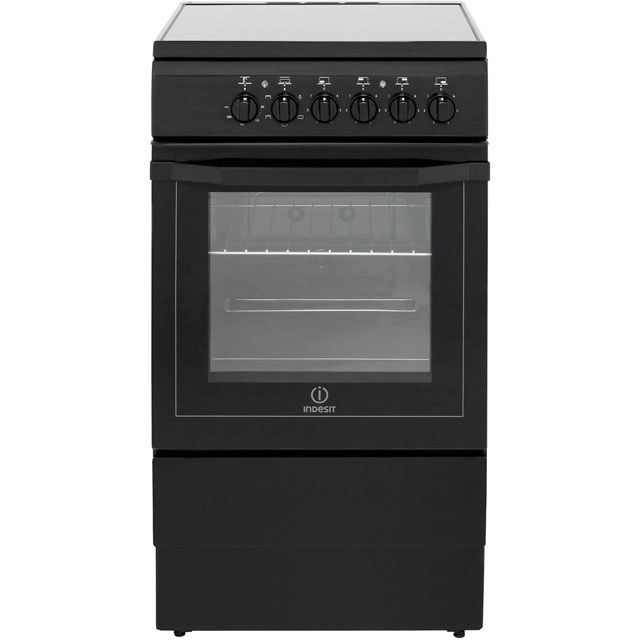 Indesit I5VSHK Electric Cooker with Ceramic Hob - Black Best Price, Cheapest Prices