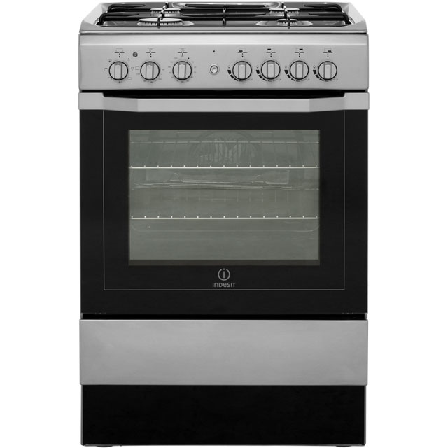 Indesit I6G52X 60cm Dual Fuel Cooker - Stainless Steel - B Rated - I6G52X_SS - 1