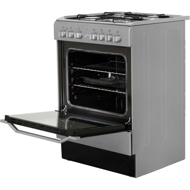 Indesit I6g52x Free Standing Dual Fuel Cooker With Gas Hob