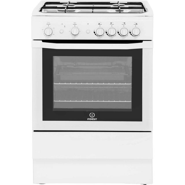 Indesit I6GG1W 60cm Gas Cooker - White - A Rated - I6GG1W_WH - 1