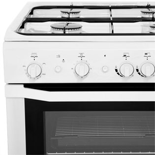 Indesit I6GG1W Gas Cooker - White - I6GG1W_WH - 2