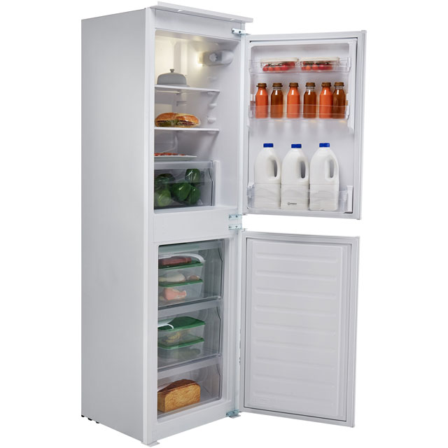 Indesit IB5050A1D.1 Integrated 50/50 Fridge Freezer with Sliding Door Fixing Kit - White - A+ Rated Best Price, Cheapest Prices