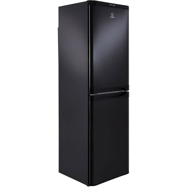 Indesit IBD5517B Fridge Freezer - Black - IBD5517B_BK - 1