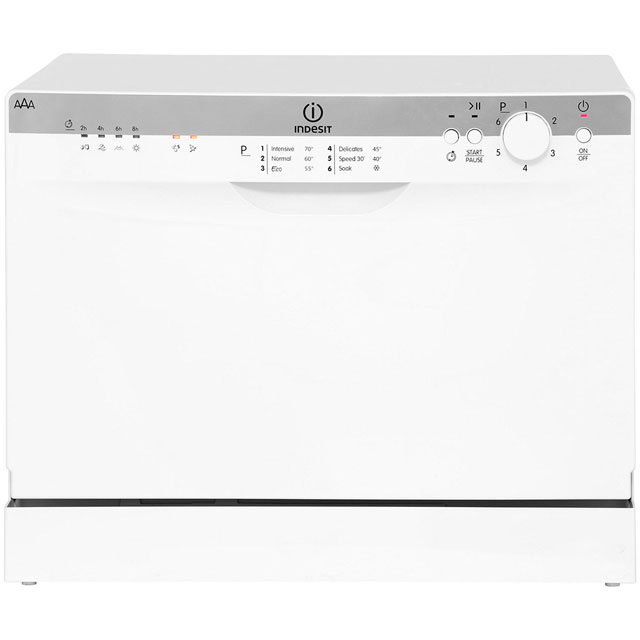 Indesit ICD661 Free Standing Table Top Dishwasher in White