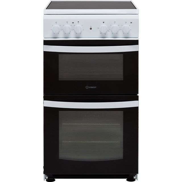 Indesit Cloe ID5V92KMW 50cm Electric Cooker with Ceramic Hob - White - A Rated - ID5V92KMW_WH - 1