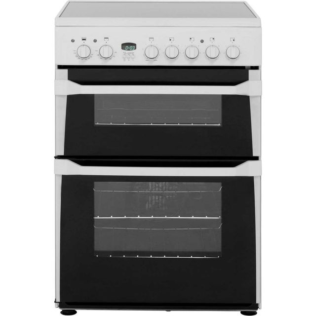 Indesit Advance ID60C2WS Electric Cooker with Ceramic Hob - White - B/B Rated - ID60C2WS_WH - 1