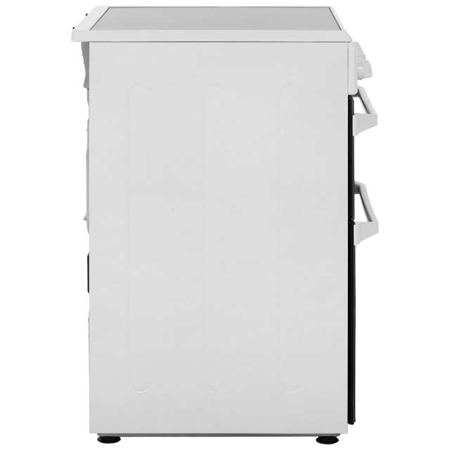 Indesit Advance ID60C2WS Electric Cooker with Ceramic Hob - White - on