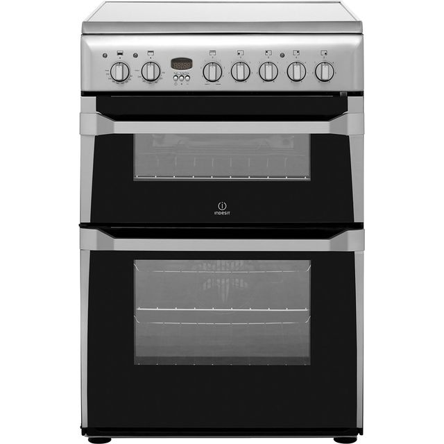 Indesit Advance ID60C2XS Electric Cooker with Ceramic Hob - Stainless Steel - B/B Rated - ID60C2XS_SS - 1