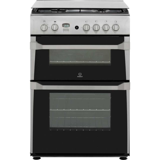 Indesit Advance ID60G2X Gas Cooker - Stainless Steel - A+/A Rated - ID60G2X_SS - 1
