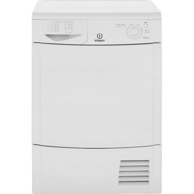 Indesit Eco Time IDC8T3B Condenser Tumble Dryer - White - IDC8T3B_WH - 1