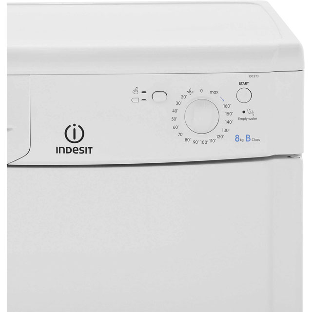 Indesit Eco Time IDC8T3B 8Kg Condenser Tumble Dryer - White - B Rated - IDC8T3B_WH - 4