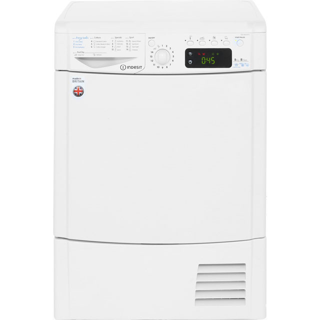 Indesit Eco Time IDCE8450BH Free Standing Condenser Tumble Dryer in White