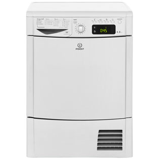 Indesit Eco Time IDCE8450BSH Condenser Tumble Dryer - Silver - IDCE8450BSH_SI - 1