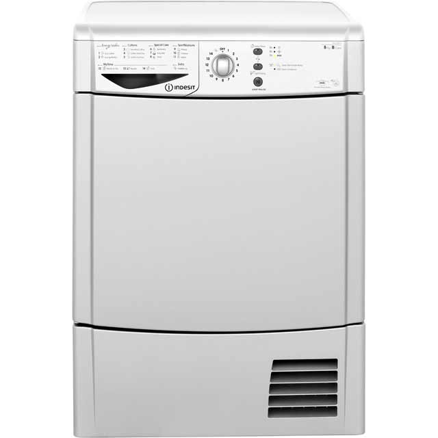 Indesit Eco Time IDCL85BHS Free Standing Condenser Tumble Dryer in Silver