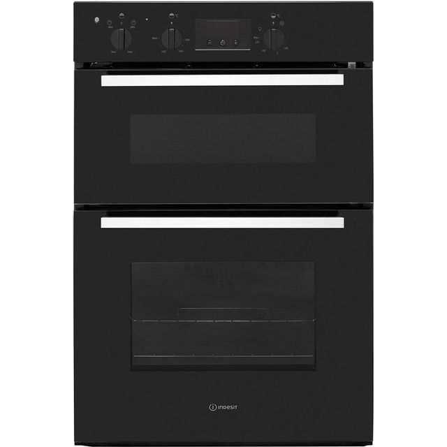 Indesit Aria IDD6340BL Built In Double Oven - Black - A/A Rated - IDD6340BL_BK - 1