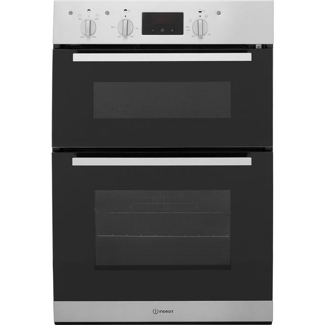 Indesit Aria IDD6340IX Built In Electric Double Oven - Stainless Steel - IDD6340IX_SS - 1