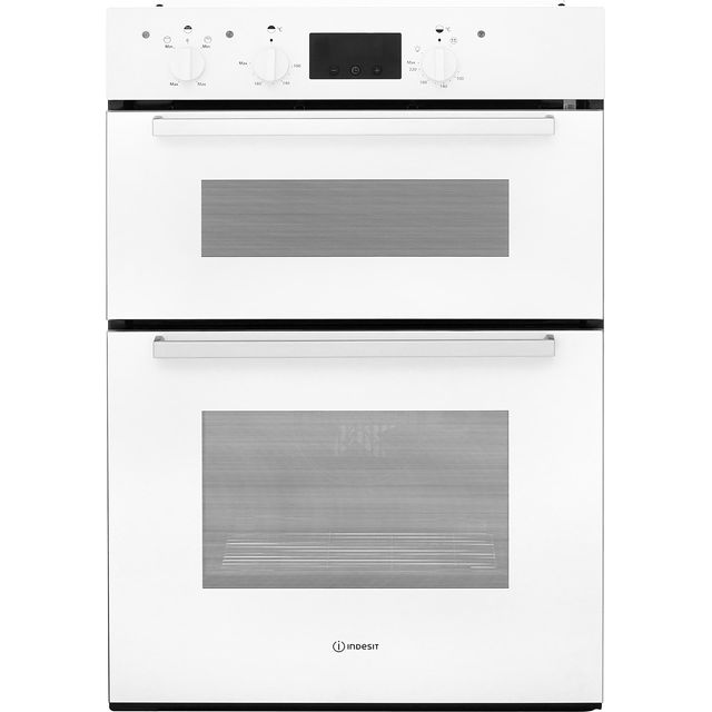 Indesit Aria IDD6340WH Built In Double Oven - White - A/A Rated - IDD6340WH_WH - 1
