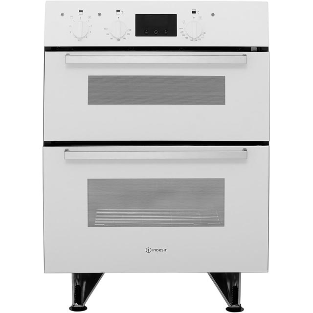Indesit Aria IDU6340WH Built Under Double Oven With Feet - White - B/B Rated - IDU6340WH_WH - 1