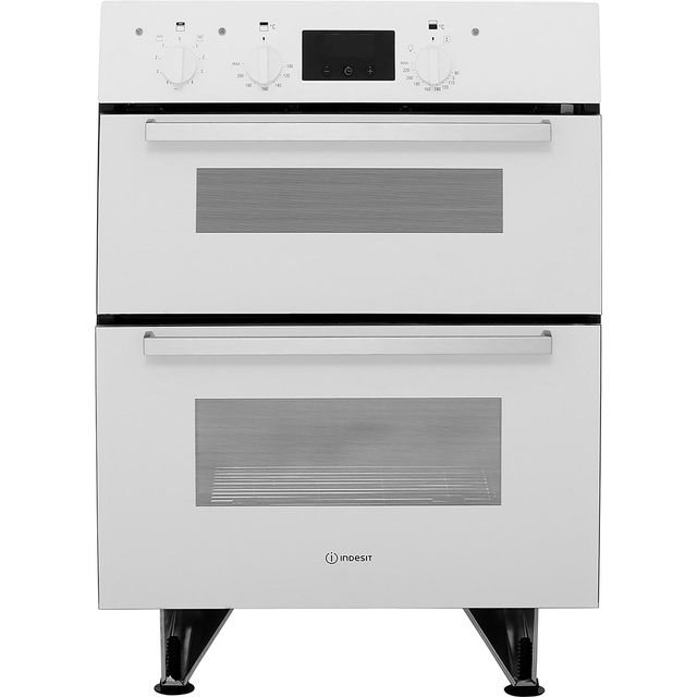 Indesit Aria IDU6340WH Built Under Electric Double Oven With Feet - White - B/B Rated