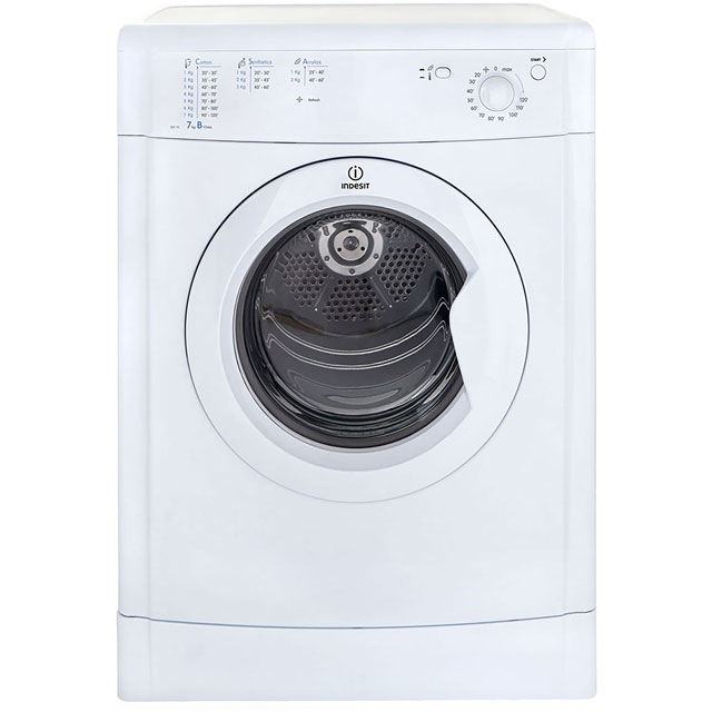 Indesit Eco Time IDV75 Vented Tumble Dryer - White - IDV75_WH - 1