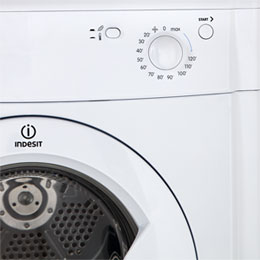 Indesit Eco Time IDV75 7Kg Vented Tumble Dryer - White - B Rated - IDV75_WH - 3