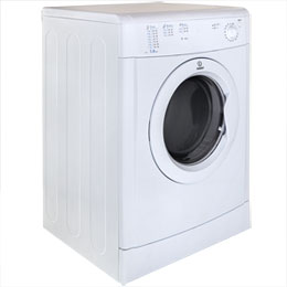 Indesit Eco Time IDV75 7Kg Vented Tumble Dryer - White - B Rated - IDV75_WH - 4