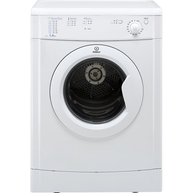 Indesit Eco Time IDV75 7Kg Vented Tumble Dryer - White - B Rated - IDV75_WH - 1