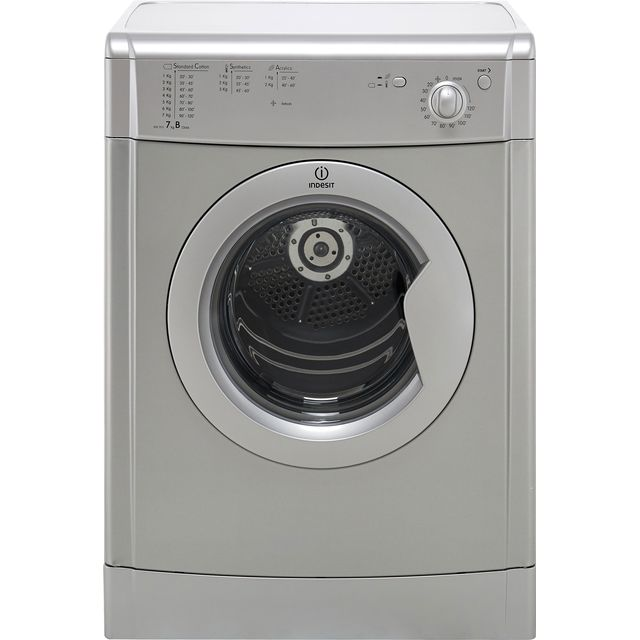 Indesit Eco Time IDV75S 7Kg Vented Tumble Dryer - Silver - B Rated - IDV75S_SI - 1