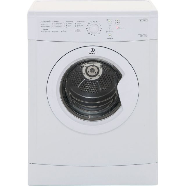 Indesit Eco Time IDVL75BR 7Kg Vented Tumble Dryer - White - B Rated - IDVL75BR_WH - 1