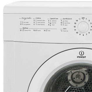Indesit Eco Time IDVL75BR Vented Tumble Dryer - White - IDVL75BR_WH - 3