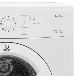 Indesit Eco Time IDVL75BR Vented Tumble Dryer - White - IDVL75BR_WH - 4