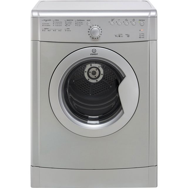 Indesit Eco Time IDVL75BRS 7Kg Vented Tumble Dryer - Silver - B Rated - IDVL75BRS_SI - 1