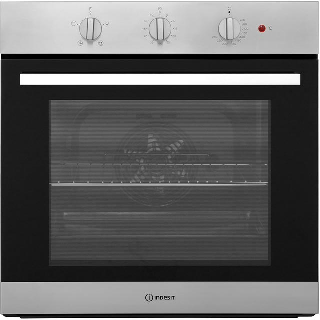 Indesit Aria IFW6330IX Built In Electric Single Oven - Stainless Steel - A Rated - IFW6330IX_SS - 1