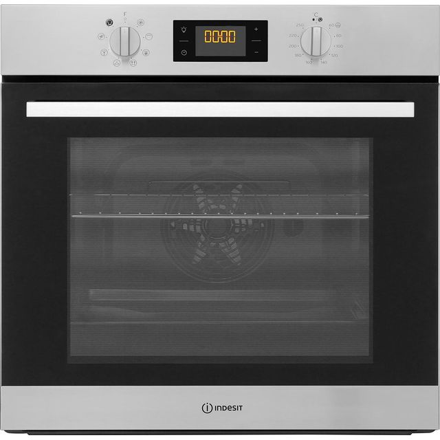 Indesit Aria IFW6340IX Built In Electric Single Oven - Stainless Steel - A Rated - IFW6340IX_SS - 1